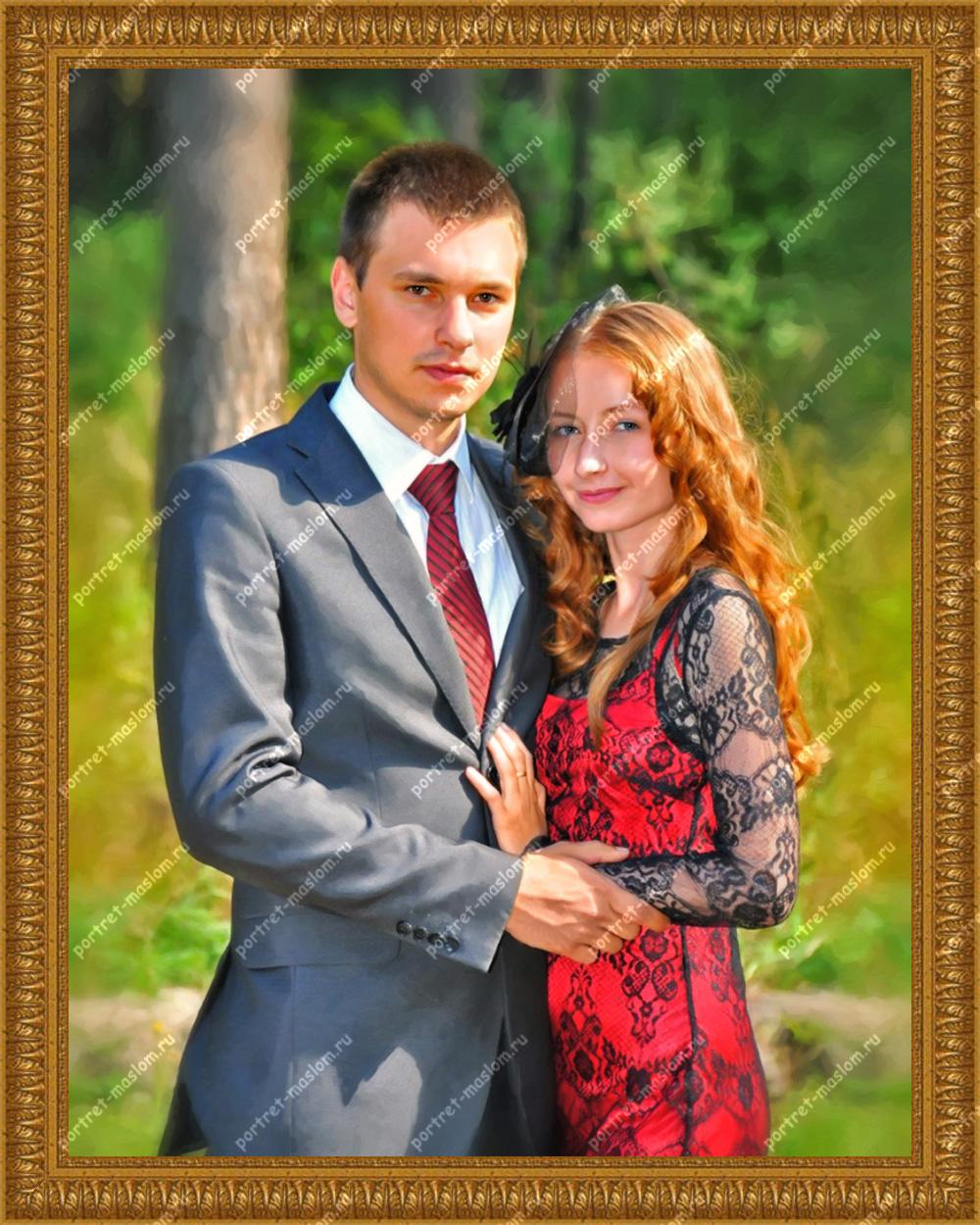 портрет на холсте с фотографии в краснодаре