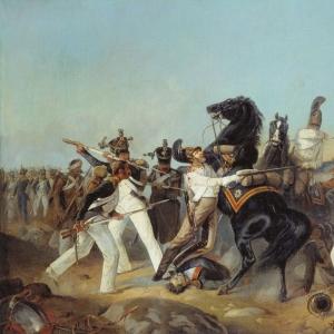 Взятие лейб-гвардии Конным полком французского знамени 4-го линейного полка под Аустерлицем. 1805 год