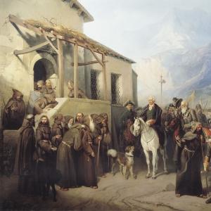 Фельдмаршал А.В.Суворов на вершине Сен-Готарда 13 сентября 1799 года
