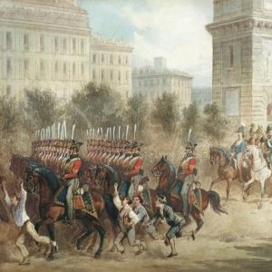 Вступление русских войск в Париж в 1814 году