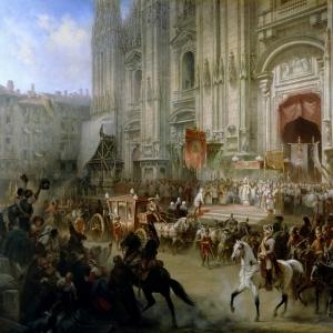 Торжественный прием фельдмаршала Александра Суворова в Милане в апреле 1799