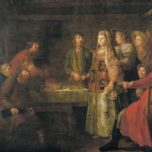 Празднество свадебного договора. 1777