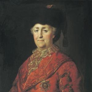 Портрет Екатерины II в дорожном костюме. 1787
