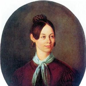Шебуев Василий Кузьмич - Портрет неизвестной в коричневом платье