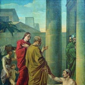 Шебуев Василий Кузьмич - Апостолы Петр и Иоанн исцеляют хромого