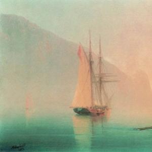 Аю-Даг в туманный день. 1853