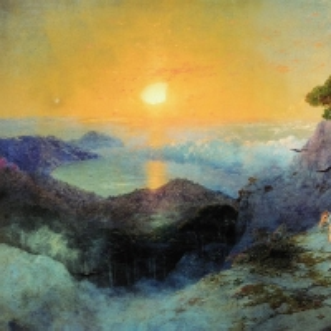 А.С. Пушкин на вершине Ай-Петри при восходе солнца. 1899