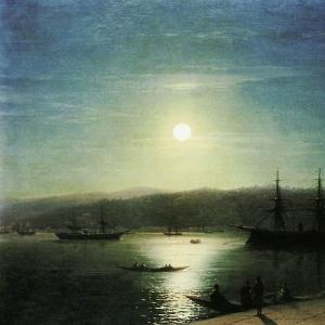 Босфор в лунную ночь. 1874