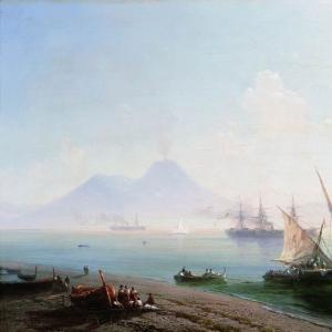 Берег Неаполя. Вид Везувия. 1877