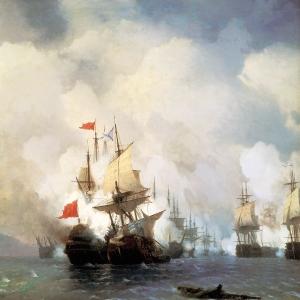 Бой в Хиосском проливе 24 июня 1770 года. 1848