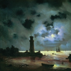 Берег моря ночью. У маяка. 1837
