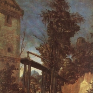Альтдорфер Альбрехт - Пейзаж с мостиком, 1518