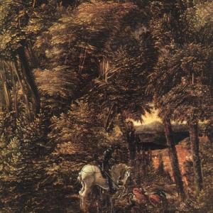 Альтдорфер Альбрехт - Святой Георгий в лесу, 1510