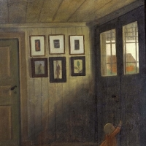 Ивар Аросениус - Девочка у двери. Интерьер дома художника, Алванген
