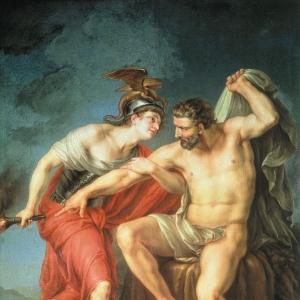 Самосожжение Геркулеса на костре в присутствии его друга Филоктета. 1782