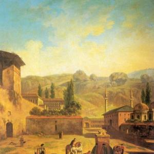 Вид города Бахчисарая