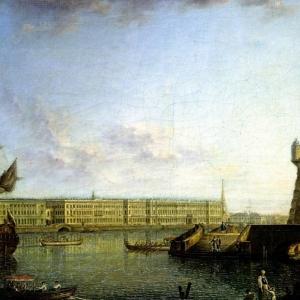 Вид Петропавловской препости и Дворцовой набережной