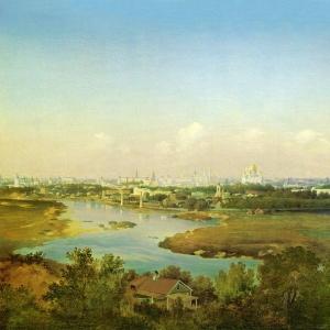 Вид Москвы с Воробьёвых гор