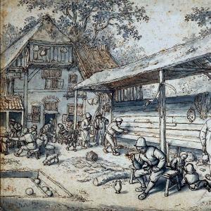 Адриан ван Остаде - Обработка древесины