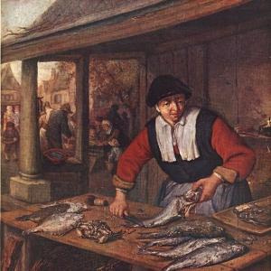 Адриан ван Остаде - Торговка рыбой