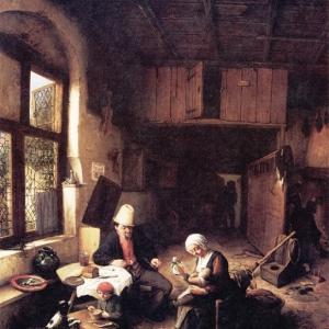 Адриан ван Остаде - Деревенский дом