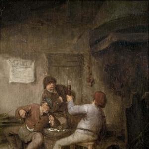 Адриан ван Остаде - Крестьяне пьют и курят