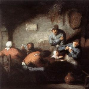 Адриан ван Остаде - Сцена на постоялом дворе