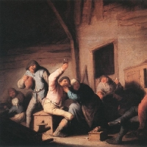 Адриан ван Остаде - Крестьяне, бражничающие в таверне