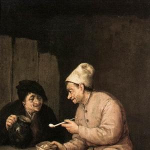 Адриан ван Остаде - Курение и выпивка в таверне