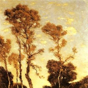 Арпиньи Анри Жозеф - Осенний пейзаж с рекой