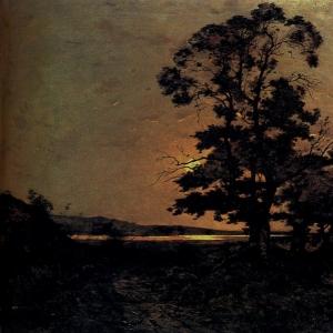 Арпиньи Анри Жозеф - Лунный свет на глади Луары