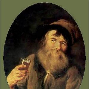 Портрет крестьянина со стаканом в руке