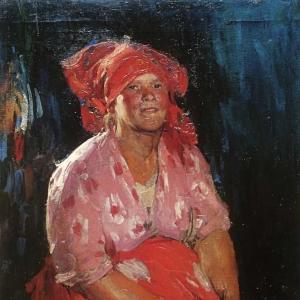 Крестьянка в розовом