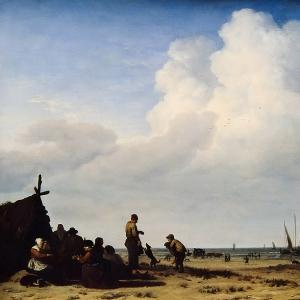 Адриан ван де Велде - Прибрежный пейзаж