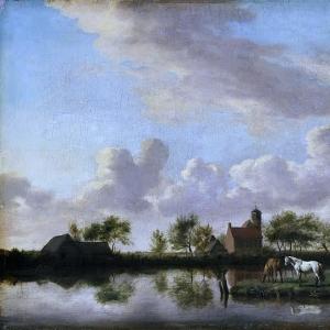 Адриан ван де Велде - Речной пейзаж
