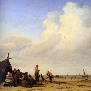 Адриан ван де Велде - Береговая сцена