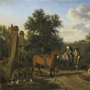 Адриан ван де Велде - Охотничья компания