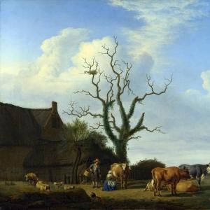 Адриан ван де Велде - Ферма с мертвым деревом