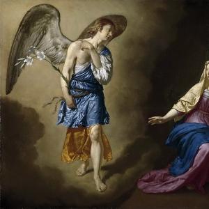 Адриан ван де Велде - Благая весть для Марии