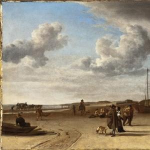 Адриан ван де Велде - Морской берег в Схевенингене