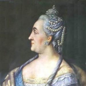 Портрет Екатерины II в профиль