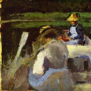 В лодке, 1892