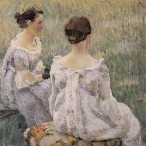 Две сидящие дамы. 1899
