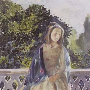 Девушка на балконе, 1900