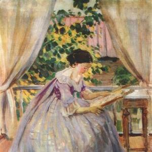 Дама за вышиванием, 1901