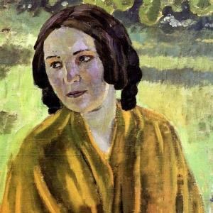 Девушка в желтой шали, 1904