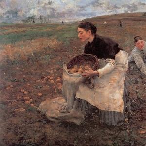 Жюль Бастьен-Лепаж - Октябрь, время сбора картошки