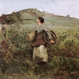 Жюль Бастьен-Лепаж - Во время сбора урожая