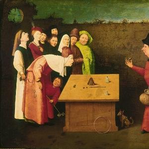 Фокусник (1475-1480)   (Сен-Жермен-эн-Лайе, Муниципальный музей)