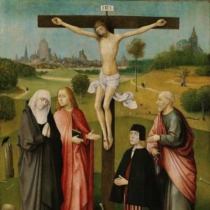 Распятие с предст. донаторами (1480-1485)  (Брюссель, Королевский музей Изящ. искусств)